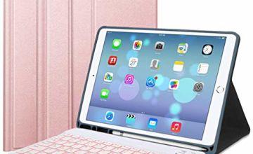 "Lachesis iPad 10.2 2019 Keyboard Case, Bluetooth Keyboard for iPad 10.2"" 2019 with Pencil Holder"