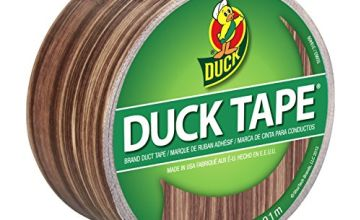 Shurtech Patterned Duck Tape 1.88-inch x 10yd-Woodgrain, Other, Multicoloured, 11.39 x 11.65 x 7.08 cm
