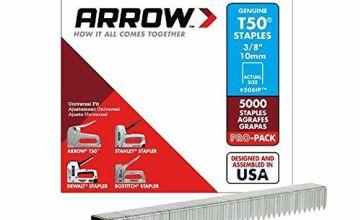 Arrow A506IP T50 Staples, Steel, 3/8 Inch (10 mm)