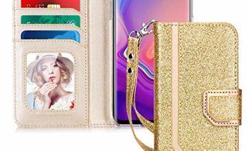 Toplive Samsung Galaxy S10+ Plus 6.4 inch Case, Premium PU L