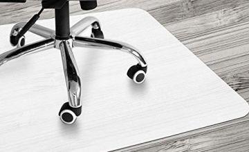 VPCOK Chair Mat - 90x120cm (3'x4') Office Chair Mat, Office Floor Protector Mat, Non-Slip Protector Mat for under Office Chair, Hard Floor, Home, High Impact Strength