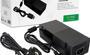 Xbox One Power Supply Brick, AC Adapter Power Cable Charger Cord Replacement Kit for Xbox One Auto Voltage 100-240V, Black