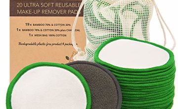 Reusable Make Up Pads - Pack of 20 Reusable Cotton Pads with Laundry Bag - Washable Bamboo Makeup Remover Pads - Eco Friendly Face Cloth for all Skin Types