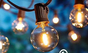 Outdoor Garden String Lights,LED Version 25ft G40 OxyLED Garden Patio Outside String Lights,Indoor/Outdoor String Lights,Great Garden Terrace Patio Christmas Lights (25 Bulbs,3 Replacement Bulbs)