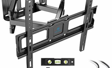 PERLESMITH TV Wall Bracket Swivel Tilt, Solid Sturdy Full Motion TV Mount for 32-55 Inch TVs, Holds up to 45kg, Max VESA 400x400mm, HDMI Cable,Bubble Level, Cable Ties Included