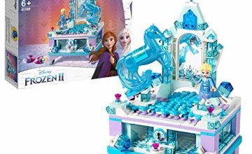 LEGO 41168 Disney Frozen II Elsa's Jewelry Box Creation with Princess Elsa Mini Doll and Nokk Figure Lockable Drawer, Mirror and Spinner Turntable, Collectible Toys for Kids