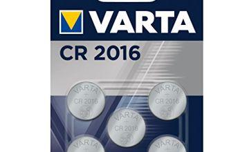 Varta CR2016 Electronic Battery (Pack of 5)