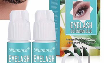 Eyelash Extension Glue, Individual Eyelashes Glue, Eyelash Glue, Professional Premium Semi Permanent Eyelash Glue, 6-7 weeks Retention, Professional Individual Eye Lash Glue, 5ml X 2