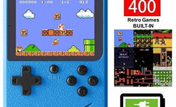 Bestllin Handheld Game Console, Retro Mini Game Player with 400 Classical FC Games 3-Inch Color Screen Support for Connecting TV & Two Players Rechargeable Battery Present for Kids and Adult