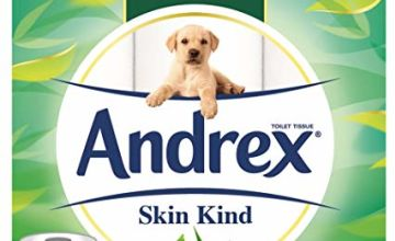 30% off Andrex Toilet Roll Skin Kind, with Aloe Vera, 54 Rolls