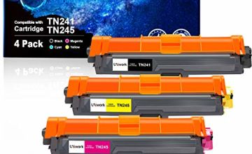 Uniwork Compatible Toner Cartridges for Brother TN241 TN245 TN-241 TN-245 for Brother DCP-9020CDW DCP-9015CDW HL-3140CW HL-3150CDW HL-3170CDW MFC-9330CDW MFC-9140CDN MFC-9340CDW MFC-9130CW