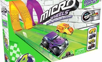 Micro Wheels HS78698 Double Loop Pack, Mini Racing car Set for Kids Aged 4+, Multi