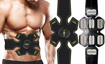 EGEYI Abs Trainer,Ems Muscle Stimulator,Abdominal Muscle toner Fitness Training Gear ABS Fit Weight Muscle Toning Ab Belts Toning Gym Workout Machine For Men & Women (muscle stimulator)