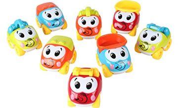 Baoli Plastic Mini Cartoon Car Truck Toy Vehicle Baby Gift P