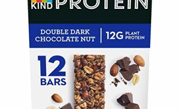 KIND Protein Bars - Double Dark Chocolate. Gluten Free Plant Based Protein Bars Multipack 12 x 60g