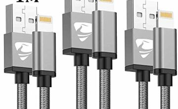 iPhone Charger Cable MFi Certified Lightning Cable Aioneus 3Pack/1M 2M 3M iPhone Cable Nylon Braided Fast Charging Cable Long Charger Lead for iPhone 11 Pro XR XS Max X 10 8 7 6s 6 Plus SE 5 5s, iPad