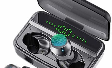 2020 Newest Technology True Wireless Earbuds Bluetooth 5.0 Headphones in-ear Auto Pairing Earphones With 90H Playtime & Zero Pressure Wearing Best Sport Wireless Earbuds with Charging Case for iphone