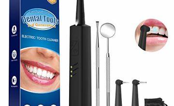 Plaque Remover for Teeth, iFanze Dental Calculus Remover Tartar Remover for Teeth with LED Light (Black)