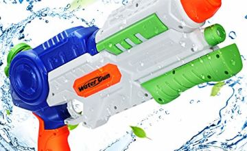 Ucradle Water Gun, Super Water Pistols with 1200ML Large Capacity, Pump Water Guns Powerful 8-10m Long Shoot Range for Adults and Kids, Large Squirt Guns Blaster Toy for Pool Garden Beach Water