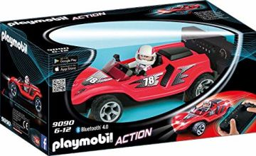 PLAYMOBIL Action 9090 RC-Rocket Racer with Bluetooth Control, for Children Ages 6+