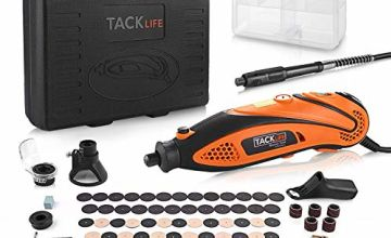 TACKLIFE Rotary Tool Multi-Functional Tool with 82 Accessories Kit and 4 Attachments, Varible Speed 10000-32000rpm, Combitool for Craft Projects, DIY Creations, Cutting, Engraving-RTD35ACL