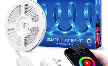 Alexa LED Strip, Lumary Smart LED Strips Lights SMD 5050 RGB Dimmer Multicolour Changing Lighting Kit, Alexa/Google Assitant/APP Control Mood Light for Home Kitchen Christmas Wedding Part