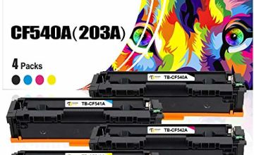 Toner Bank Compatible Toner Cartridge Replacement for HP 203X 203A HP Color Laserjet Pro MFP M281fdw M254dw CF540A CF540X CF541A CF542A CF543A for HP MFP M281fdn M280nw M281cdw M281 M254dn M254nw