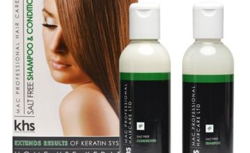 Keratin Hair System Aftercare Salt Free Shampoo and Conditioner