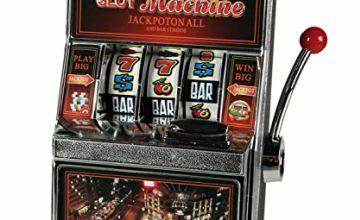 Out of the blue Plastic Slot Machine Design Savings Bank, Multicolour, 14 x 10 x 20 cm