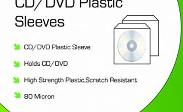 Neo Media CD/DVD Plastic Wallets - 80 Micron - (Pack of 100)