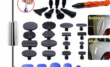 Manelord Auto Body Dent Puller - Dent Repair kit with Slide Hammer T bar Dent Puller for Car Body Hail Dent Removal Paintless Dent repair Automobile Body Repair