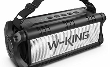 W-KING 50W Bluetooth Speaker, Portable Wireless Speakers Waterproof with 24 Hours Playtime, 8000mAh Battery Power Bank - Enhanced Powerful Bass, TWS Subwoofer with NFC for Indoor/Outdoor