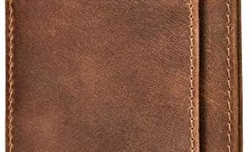 RFID Blocking Wallet Minimalist Slim Leather Credit Card Holder for Men