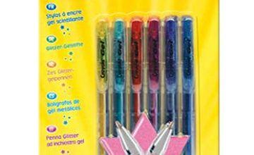 Crayola Glitter Gel Pens, Pack of 6