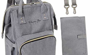 Velocity Bee Nappy Changing Backpack Bag with Changing Mat (