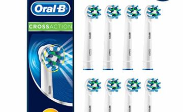 Oral-B CrossAction Replacement Toothbrush Heads, 8 Pack