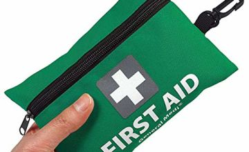 General Medi Mini First Aid Kit,92 Pieces Small First Aid Kit - Includes Emergency Foil Blanket, Scissors for Travel, Home, Office, Vehicle,Camping, Workplace & Outdoor (Green)