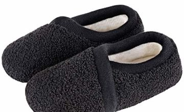 LongBay Ladies' Slipper Lightweight Memory Foam Teddy Fleece