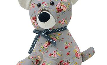 "Riva Paoletti Floral Dog Doorstop - Heavyweight Sand Filling 100% Polyester - 19 x 26 x 16cm (7"" x 10"" x 6"" inches) - Designed in the UK"