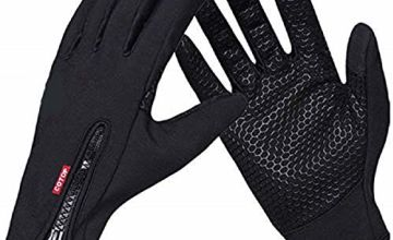 COTOP Outdoor Windproof Work Cycling Hunting Climbing Sport Smartphone Touchscreen Gloves for Gardening, Builders, Mechanic(Black, XL)