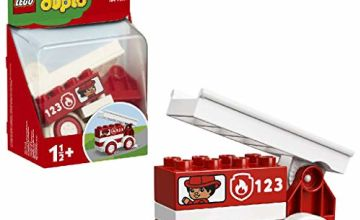 LEGO 10917 DUPLO My First Fire Truck Toy, Fire-Engine Starter Set for Toddlers 1 .5 Year Old