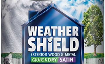 Dulux Weather Shield Quick Dry Satin Paint, 750 ml - Gallant Grey