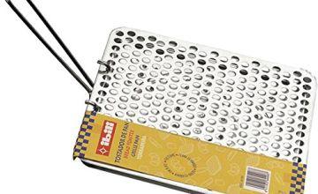 "ibili 810400 ""Clasica"" Foldable Tin Plate Bread Toaster, Silver, 20 x 20 cm"