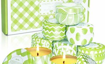 LA BELLEFÉE Citronella Candles Indoor & Outdoor Set Travel Tin for Home, Kitchen, Outdoors, Bars, Office, Gift and More