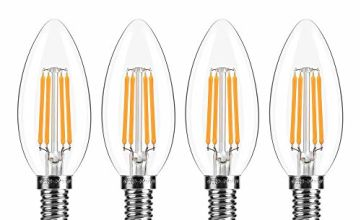 Topleder E14 LED Candle Bulbs, C35 Dimmable Warm White 2700K 4W LED Filament 40W Incandescent Bulb Equivalent…