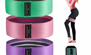 Sonomo Resistance Bands for Women, 3 Sets Fabric Exercise Workout Bands with Non-Slip Design, 3 Resistance Level Fitness Bands for Women and Men, Ideal for Home, Gym, Yoga, Pilates