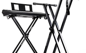 Duronic Height Adjustable High Quality Twin X Frame Keyboard Stand With A Quick Pull Release Mechanism and [[ ORIGINAL ]] Screw N Strap to secure keyboard to the stand + 2 Years FREE Warranty