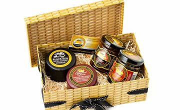 Best Sellers Cheese & Chutneys Gift Box Faux Wicker Box