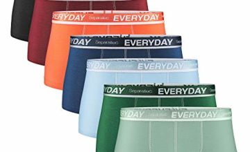 Separatec 7pack Multicolour for Everyday Men's Boxer Briefs Breathable Soft Cotton Underwear Shorts with Supportive Separated Dual Pouch