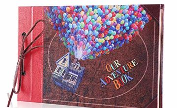 Pulaisen Adventure Book Scrapbook,up Movie DIY Anniversary Handmade DIY Family Retro Photo Album Scrapbook with Storage Gift Box